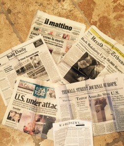9-11 newspapers Italy