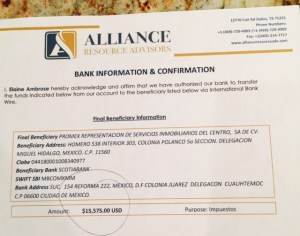scam bank info