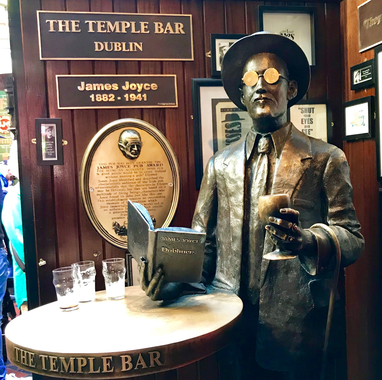James Joyce in Temple Bar
