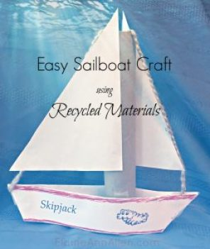 Easy sailboat craft using recycled materials