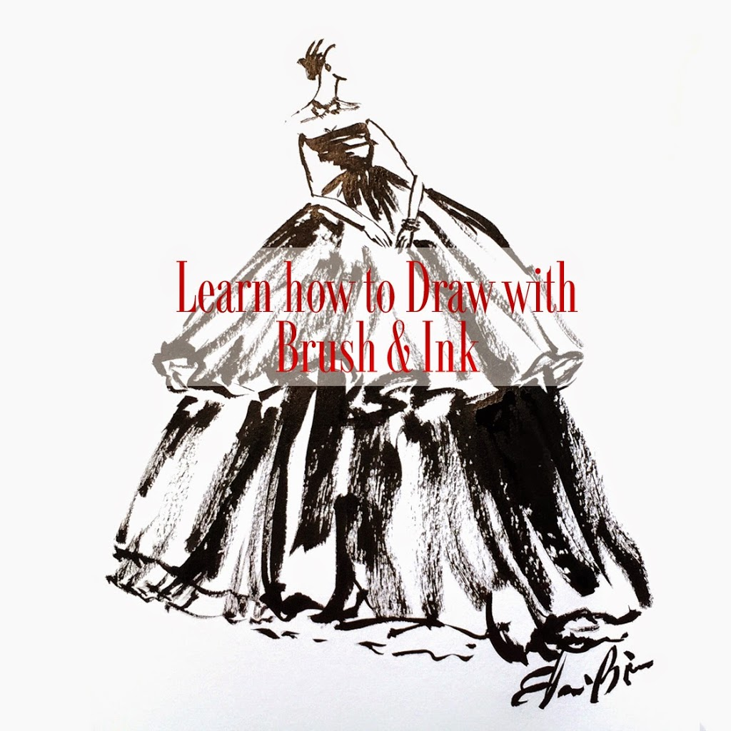 learn how to draw a fashion illustration with brush and ink elaine