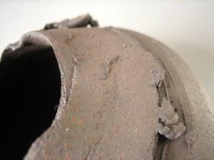 Elaine Bolt, 'Torn Terracotta' vessel detail