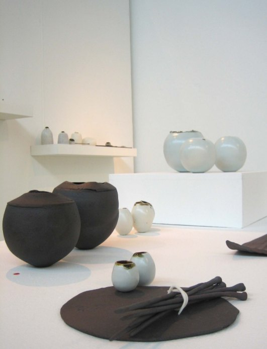 Ceramics by Elaine Bolt, at the MAde 2012 MA show