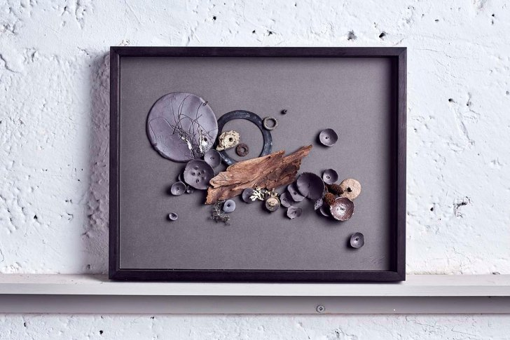 Autumn Cascade - Ceramic wall piece by Elaine Bolt, photography by Alun Callender