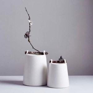 Chalk White Woodland Vessels by Elaine Bolt