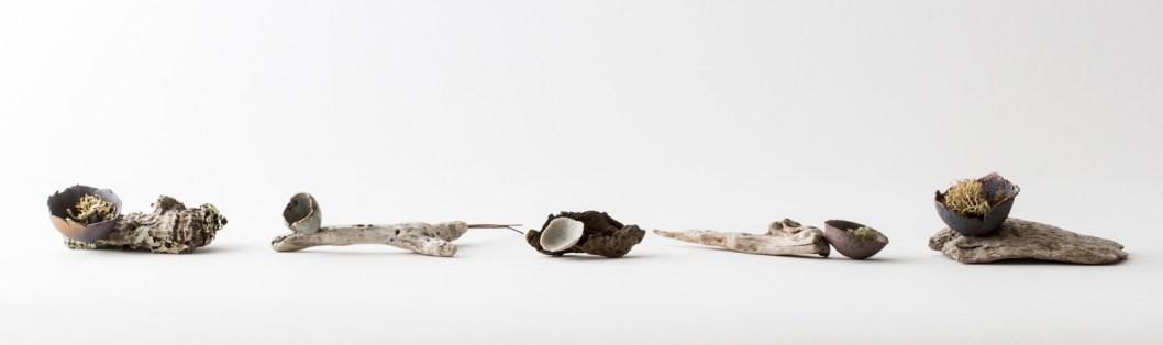 Mixed media objects by Elaine Bolt, photography by Yeshen Venema