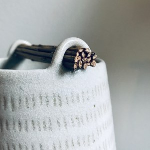 Weft Chalk vessel by Elaine Bolt