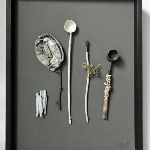 Woodland Utensils (blue/green) by Elaine Bolt