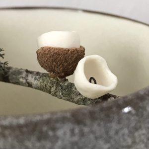 Elaine Bolt Woodland Stone vessel (acorn) 1