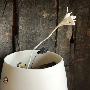 Elaine Bolt Woodland Chalk vessel Sprig 2