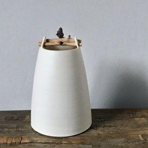 Elaine Bolt Woodland Chalk vessel Acorn