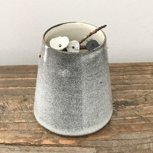 Elaine Bolt Woodland Stone grey flower