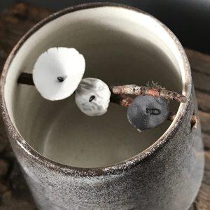 Elaine Bolt Woodland Stone grey flower