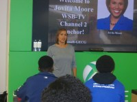 WSB TV Channel 2 Anchor Jovita Moore gives a moving presentation to the students.