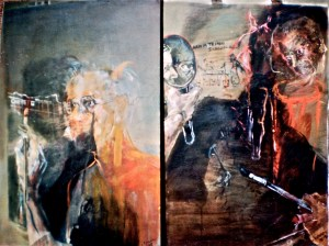 The Eye Ritual, diptych, 1995 - 1996,  oil on canvas 92x120 cm