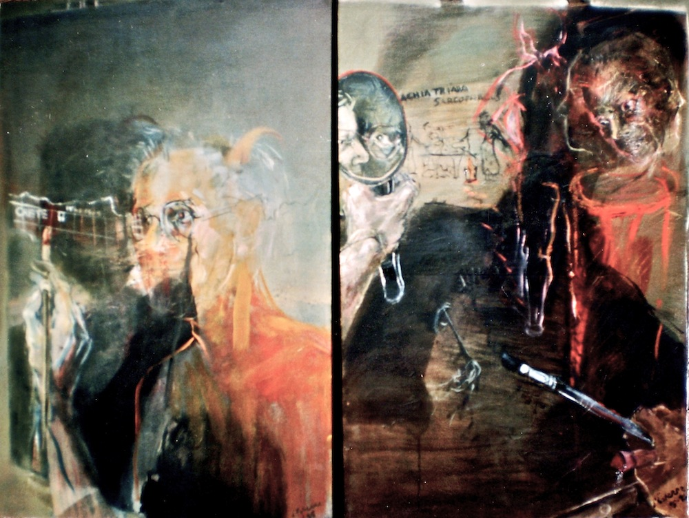 The Eye Ritual, 1995 - 6, diptych, 92x120 cm, oil on canvas