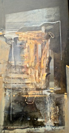 Weathered Columns 2, 2008-09, oil on canvas, 214x108 cm.