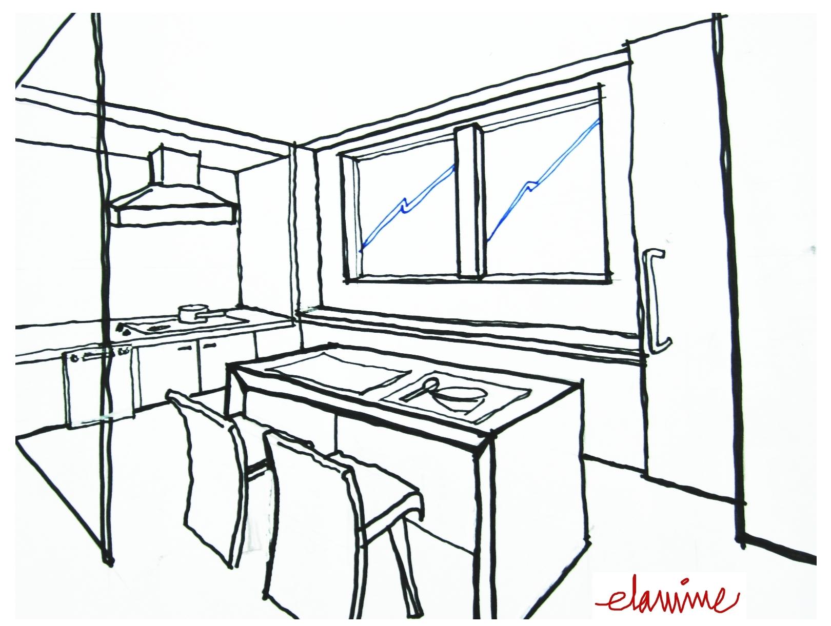 3d Sketches Kitchen Ideas 3