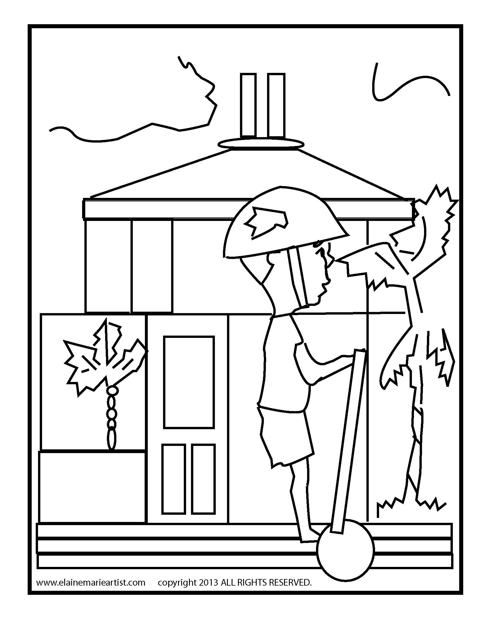 Mobile Post Office Building Coloring Coloring Pages