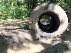 muddy tyre on assault course photo © iusedtobeindecisive