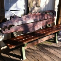 Bench Series: March - a wooden alligator bench