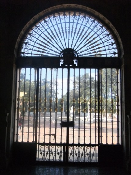 Looking out of the entrance