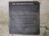 Thunderbox sign