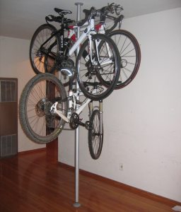 Stripper Pole Bike Rack