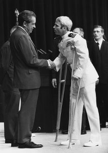 John McCain being welcomed by President Richard Nixon in 1973. (Us Navy)