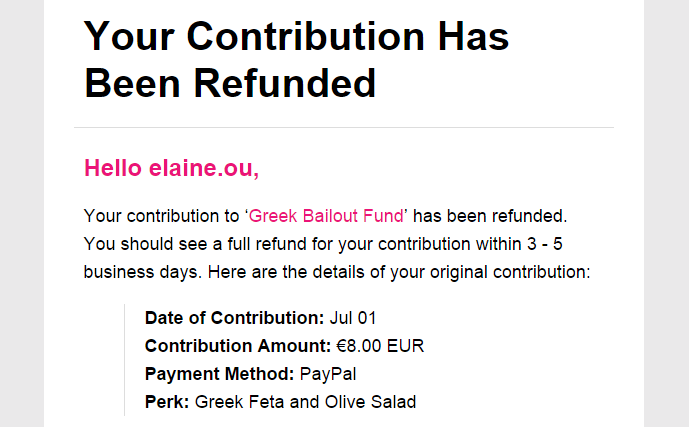 oh no, I really wanted to fund a Greek bailout :(
