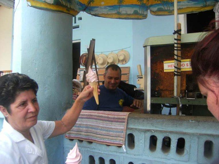 1 peso (4 cents USD) for an ice cream cone