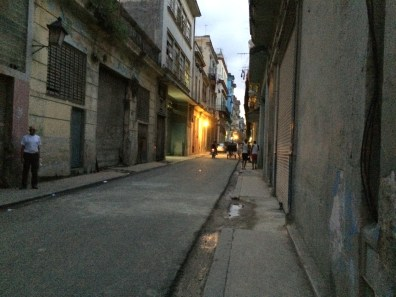 A residential street in El Centro