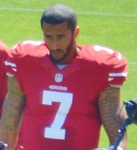 By Daniel Hartwig - Derivative of file:Colin Kaepernick and Kyle Williams warm up.jpg, CC BY 2.0, https://commons.wikimedia.org/w/index.php?curid=29243682