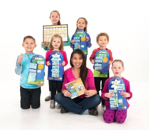 Elaine with some Easy Daysies kids!