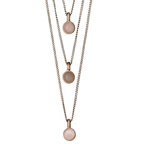 Rose gold plated necklace pilgram