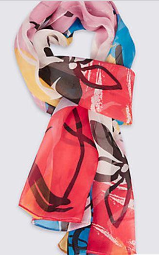 multi colour scarf