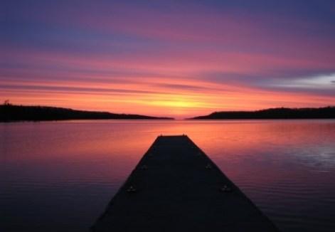 A beautiful sunrise at Isle Royale National Park, Lake Superior