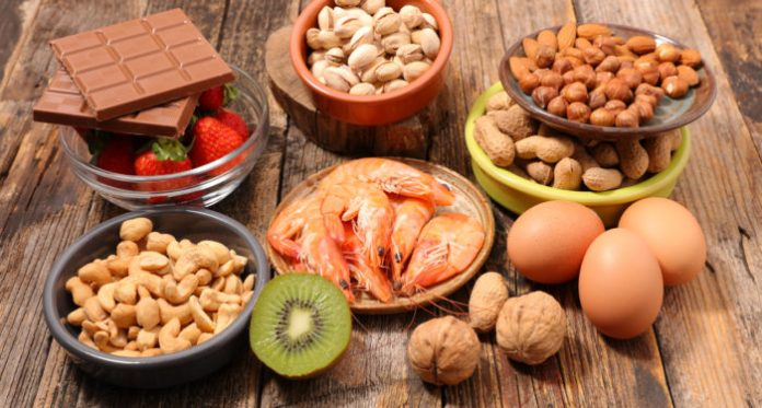 selection of allergy food