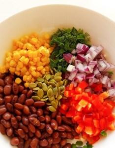 Salată mexicană de fasole roșie