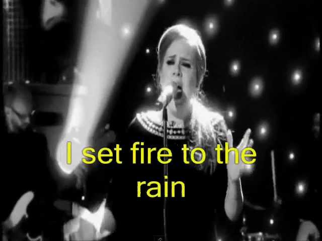 Adele:Set Fire To The Rain (Video)