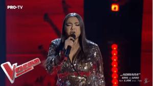 Adriana Simionescu în prima Gală Live de la Vocea României 2019