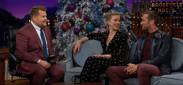 Amber Heard appears on episode The Late Late Show in 2015 1