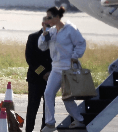 Kim Kardashian jets back home ALONE after crisis talks with Kanye West left her in tears 10
