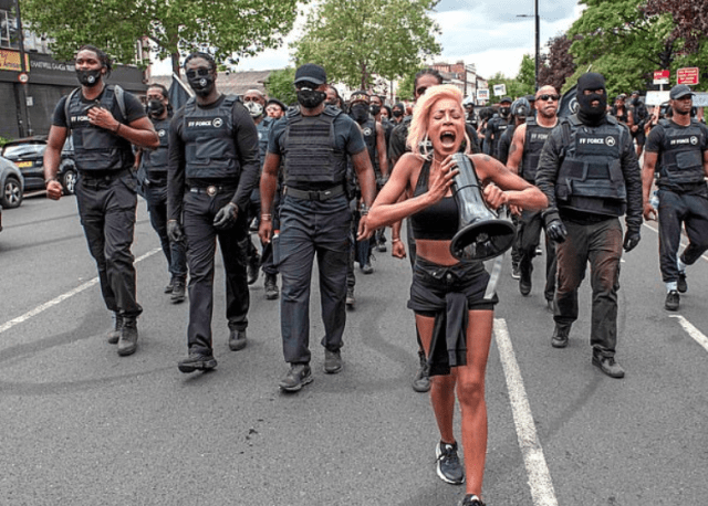 Imarn Ayton, 29, activist feted by Vogue, at the heart of a paramilitary style black power protest group 3