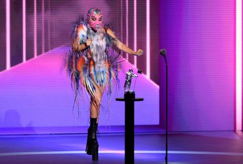 Lady Gaga, 34 de ani, la MTV Video Music Awards 2020: Parada impresionantă a măștilor de față 5