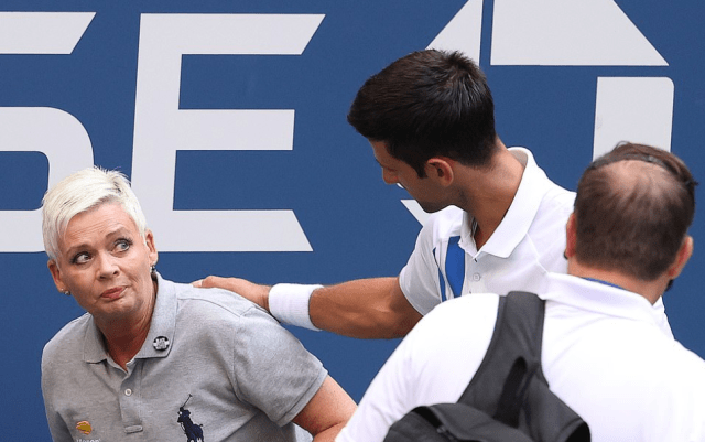 Novak Djokovic is DISQUALIFIED from US Open for whacking a ball at a line judge as world No 1 fumes at umpire for decision 9