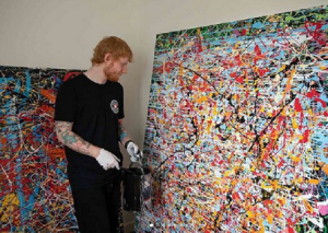 Ed Sheeran, 29, to sell his lockdown art to raise cash for charity