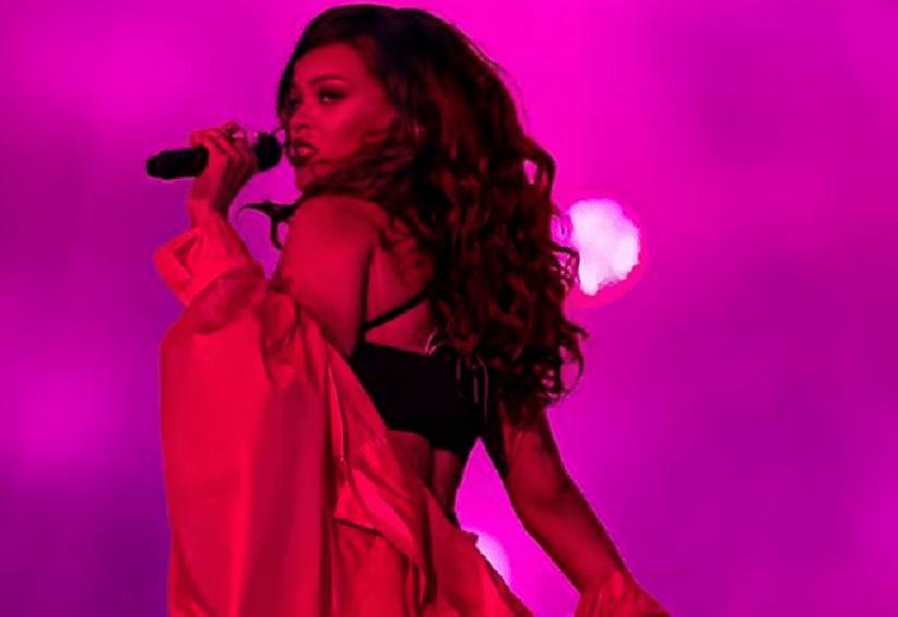 Rihanna shocks fan at a gas station in Barbados