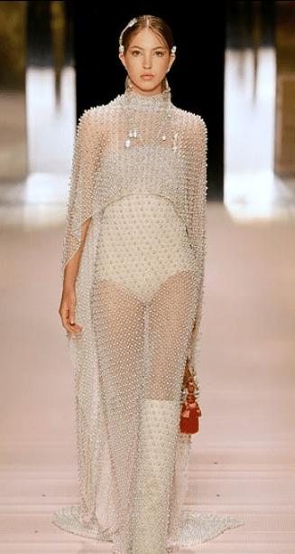 Lila Haute Couture Fashion Week in Paris