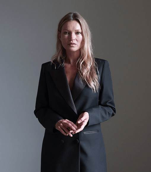 Kate Moss, 47, in a black blazer mini dress for new radiant campaign 7